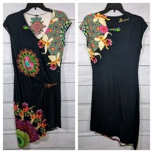 Desigual Black Twist Dress